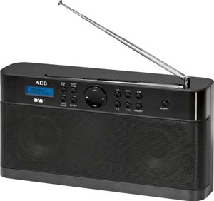 aeg dab 4124 tragbares stereoradio dab radio test. Black Bedroom Furniture Sets. Home Design Ideas